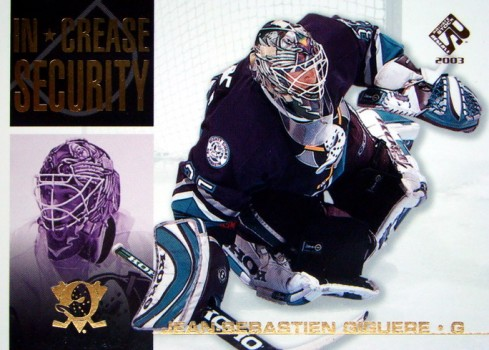 IJshockey 2002-03 Upper Deck Last Line of Defense #LL1 Jean-Sebastien Giguere Hockey Card